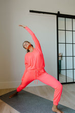 Load image into Gallery viewer, Lounging In Color Joggers In Neon Coral