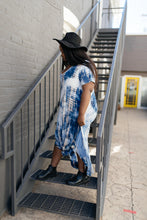 Load image into Gallery viewer, Miami Beach Tie Dye Maxi Dress In Navy