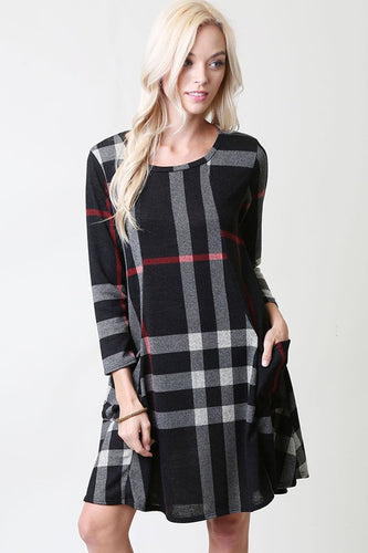 Porter Plaid Pocket Dress