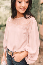Load image into Gallery viewer, Straight Laced Blouse In Blush