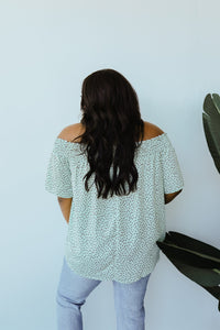 Tiny Twinkling Top In Sage