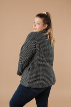 Load image into Gallery viewer, Tweedle Delightful Tweed Blazer In Black