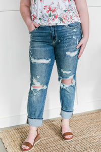 The Boy Is Mine Judy Blue Boyfriend Jeans