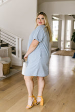 Load image into Gallery viewer, Buttoned To A T-Shirt Dress In Pale Blue