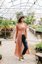 Load image into Gallery viewer, Copper Sweater Maxi Cardi