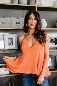 Daisy Woven Cami In Coral