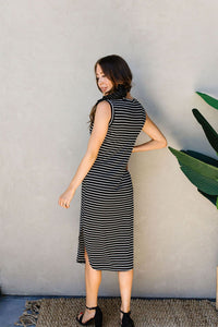 Fair Weather Striped Midi Dress