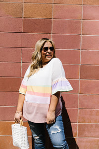 Glass Half Full Of Stripes Top