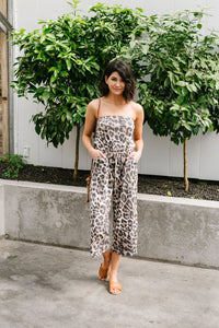 Jagged Little Cropped Jumpsuit