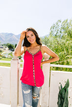 Load image into Gallery viewer, Just A Little Wild Camisole In Hot Pink