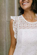Load image into Gallery viewer, Lovely Lace Overlay Dress In Ivory