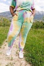 Load image into Gallery viewer, Mint Tie Dye Lounge Joggers