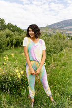 Load image into Gallery viewer, Mint Tie Dye Lounge Top