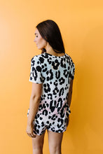 Load image into Gallery viewer, Pale Mint Animal Print Top