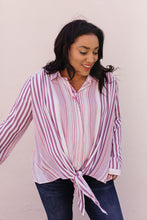 Load image into Gallery viewer, Risky Business Tie Front Blouse