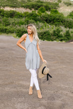 Load image into Gallery viewer, Ruffled V Babydoll Dress In Sage