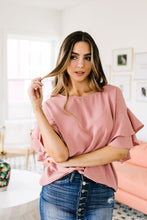 Load image into Gallery viewer, Ruth Ruffled Sleeve Top In Mauve