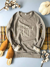 Load image into Gallery viewer, Stay Cozy French Terry Raglan Pullover