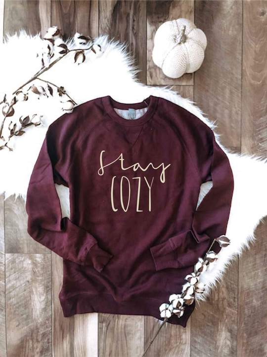 Stay Cozy French Terry Raglan Pullover