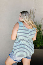 Load image into Gallery viewer, Stripe On All Summer Long Tank In Mint