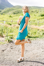 Load image into Gallery viewer, Summer Swing V-Neck Dress In Jade