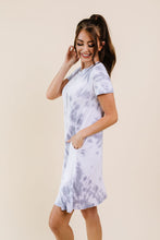 Load image into Gallery viewer, Swirl Tie Dye Dress In Gray