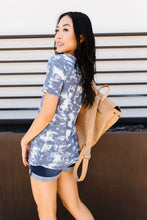 Load image into Gallery viewer, Tessa Tie Dye Top In Navy