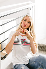 Load image into Gallery viewer, This Is My Heartbeat Embroidered Tee