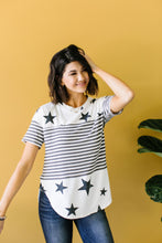 Load image into Gallery viewer, Stripes & Stars Black & White Top