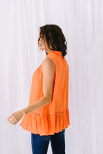 Load image into Gallery viewer, Victoria Lace Mock Neck Top In Orange