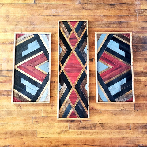 One of a kind 3 piece wall art set