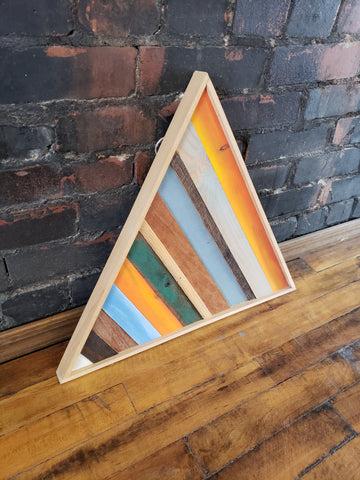 Medium Reclaimed Wood Triangle