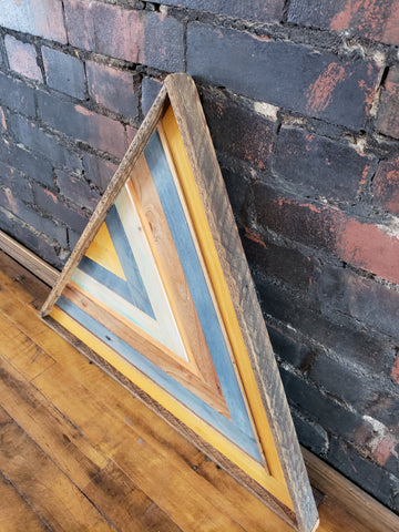 Large Reclaimed Wood Triangle