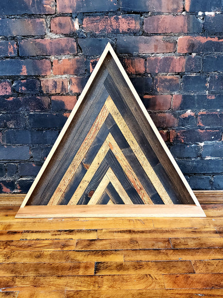 Reclaimed Wood Triangle Shelf