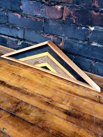 Small Reclaimed Wood Triangle