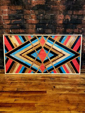 "24""x48"" Reclaimed Wood Wall Art"