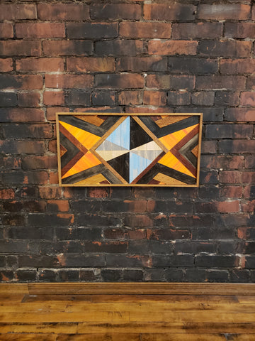 One of a kind 12x24 Geomtric Art