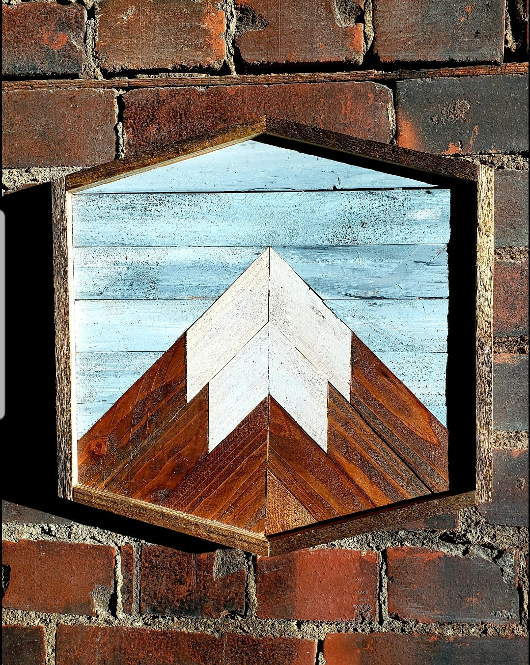 Hex 12x12 Reclaimed Wood Mountain Peak