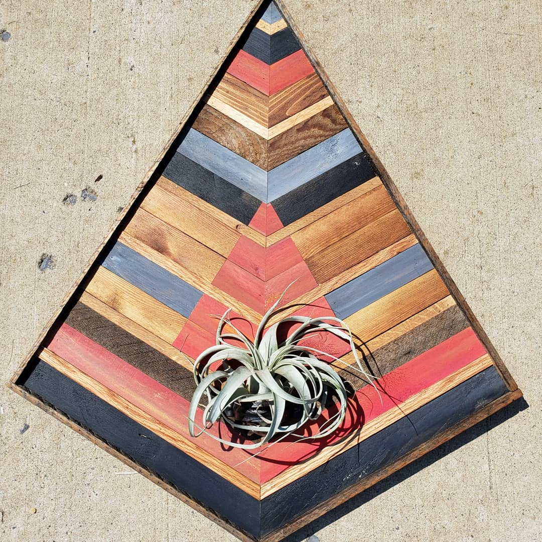 Large Reclaimed Wood Air Plant Holder