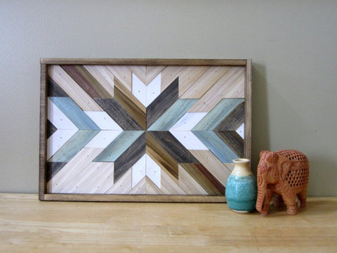 Reclaimed Wood Starburst Art