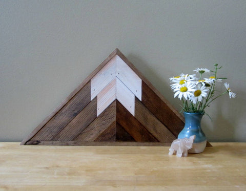 Triangle Reclaimed Wood Mountain Peak