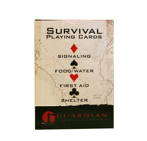 <h2>Survival Playing Cards - 52 cards illustrating valuable survival skills that will educate and entertain you in an emergency.</h2>