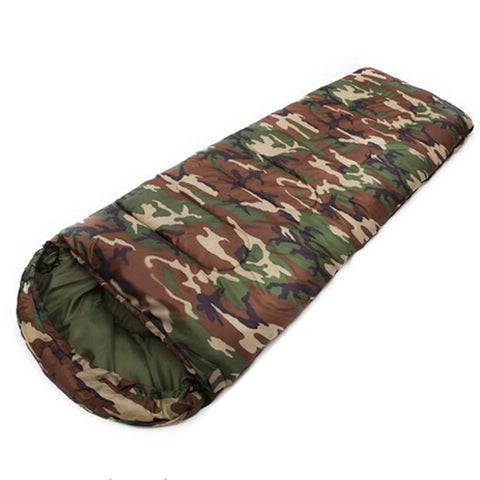 JHO-Cotton Camping sleeping bag 15~5 degree envelope style camouflage Sleeping Bag