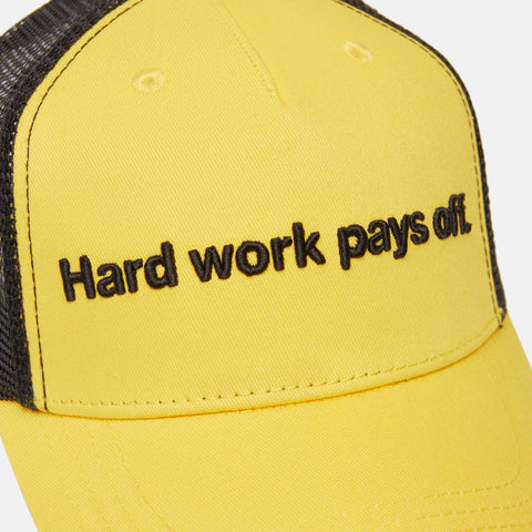 HARD WORK PAYS OFF TRUCKER CAP