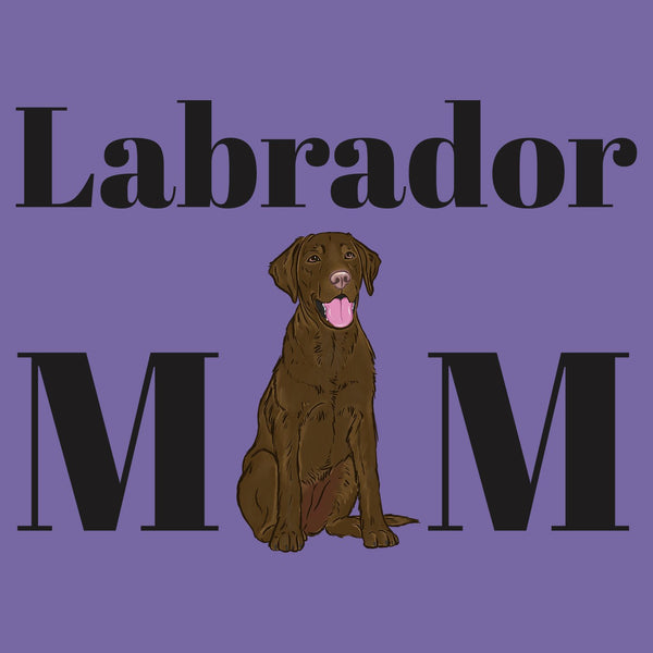 Chocolate Labrador Mom Illustration - Women's Tri-Blend T-Shirt