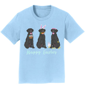 Labradors.com - Easter Black Labrador Line Up - Kids' Unisex T-Shirt