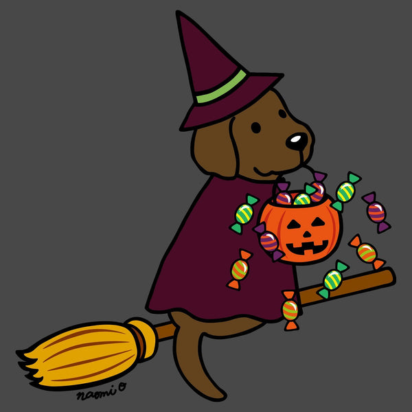 Chocolate Lab Witch - Adult Unisex T-Shirt