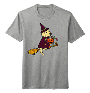 Yellow Lab Witch - Halloween - Tri-Blend T-Shirt