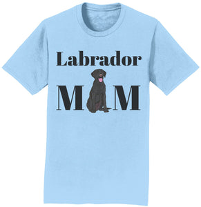 Labradors.com - Black Labrador Mom Illustration - Adult Unisex T-Shirt