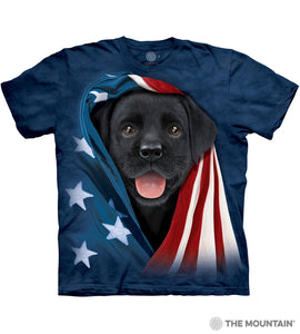 Patriotic Black Lab Pup - Kids' Unisex T-Shirt
